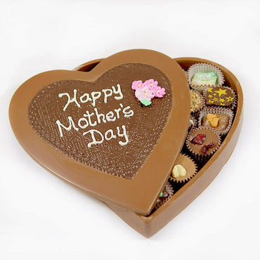 Mother's Day Deluxe Edible Heart Box w/ Chocolates