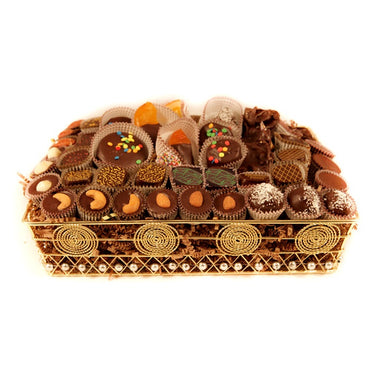Gold Wire Chocolate Deluxe Gift Basket