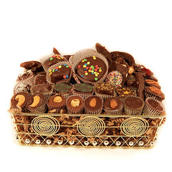 Gold Wire Chocolate Premium Gift Basket