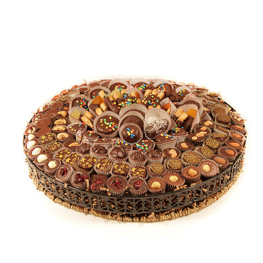 Metal Wicker Chocolate Super Deluxe Gift Basket