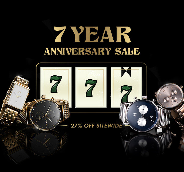 7 year anniversary sale 27% off sitewide