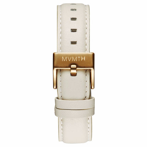 Boulevard - 18mm Cream Leather gold