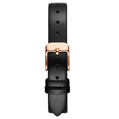MOD - 12mm Black Leather rose gold