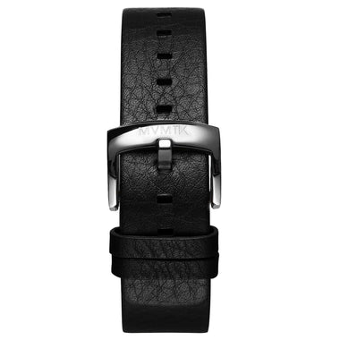 Blacktop - 24mm Black Leather Silver