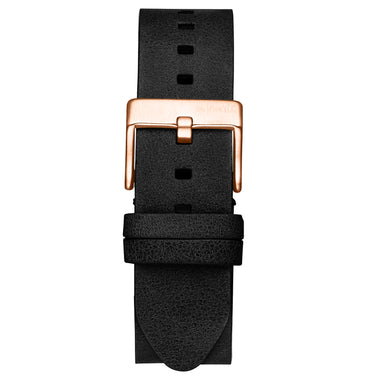 Rise - 20mm Black Leather Rose Gold
