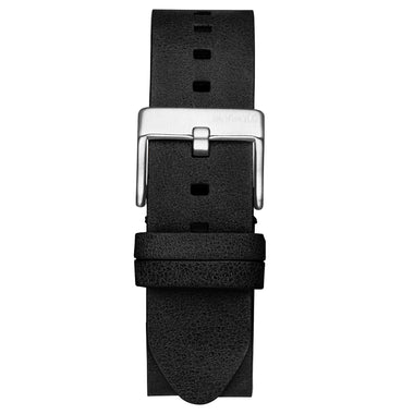 Rise - 20mm Black Leather Silver