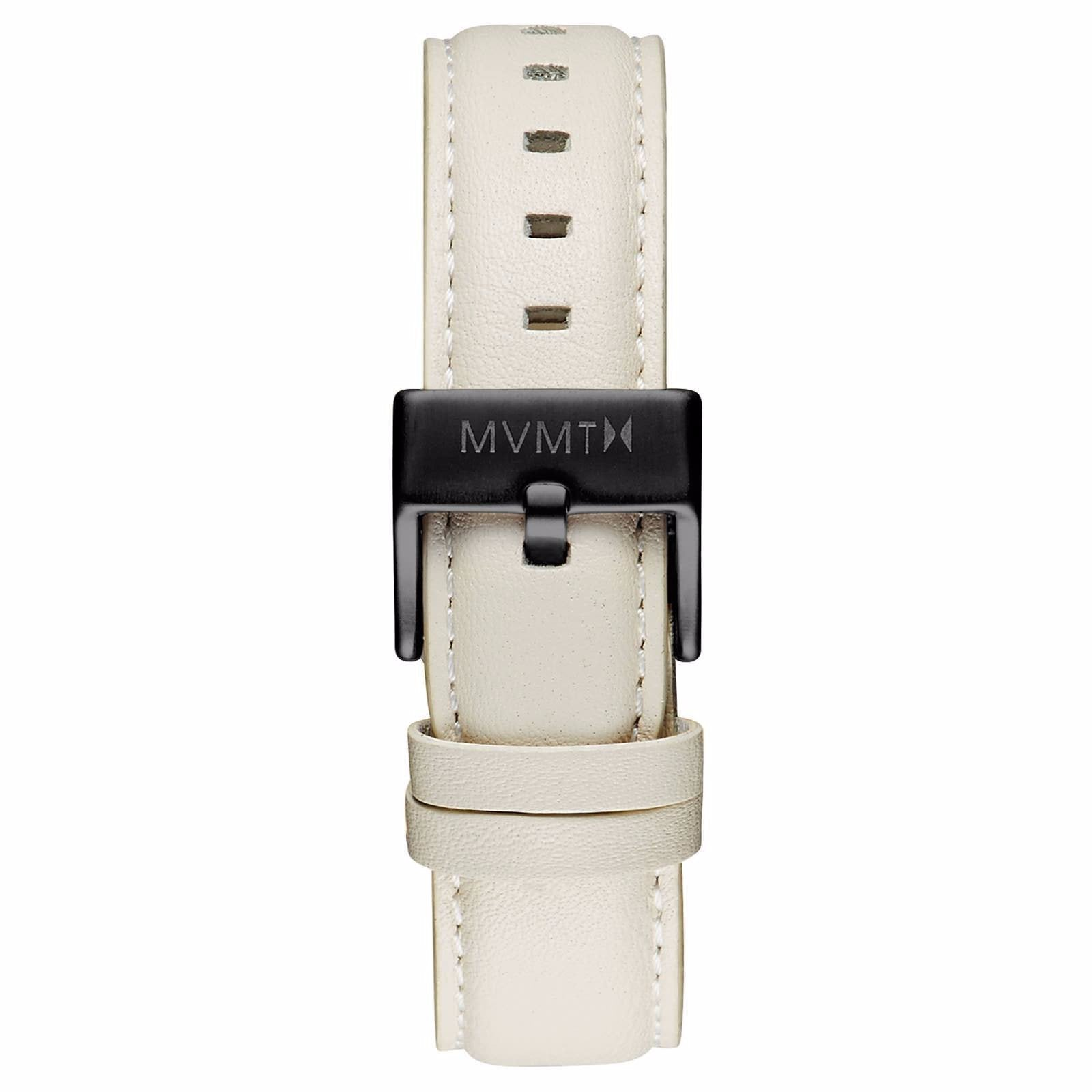 Boulevard - 18mm Cream Leather - black