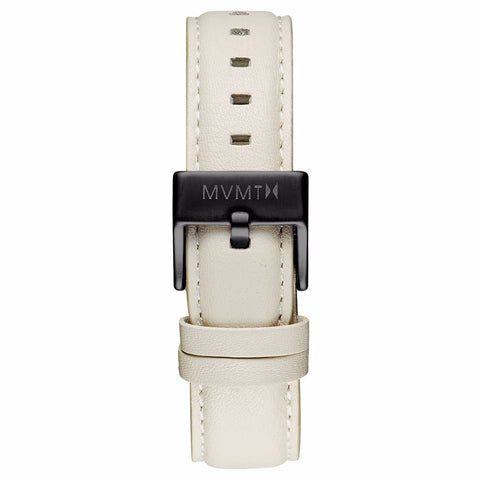 Boulevard - 18mm Cream Leather black