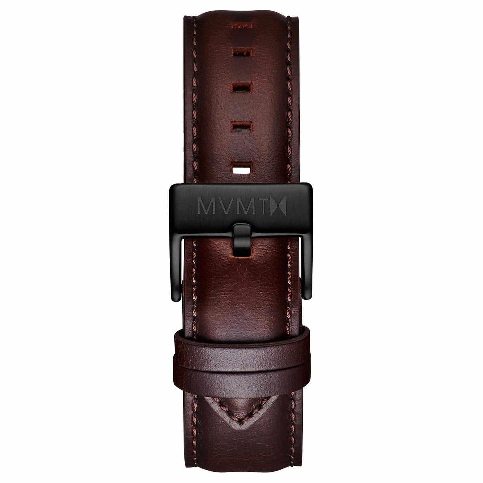 40 Series - 20mm Brown Leather - black