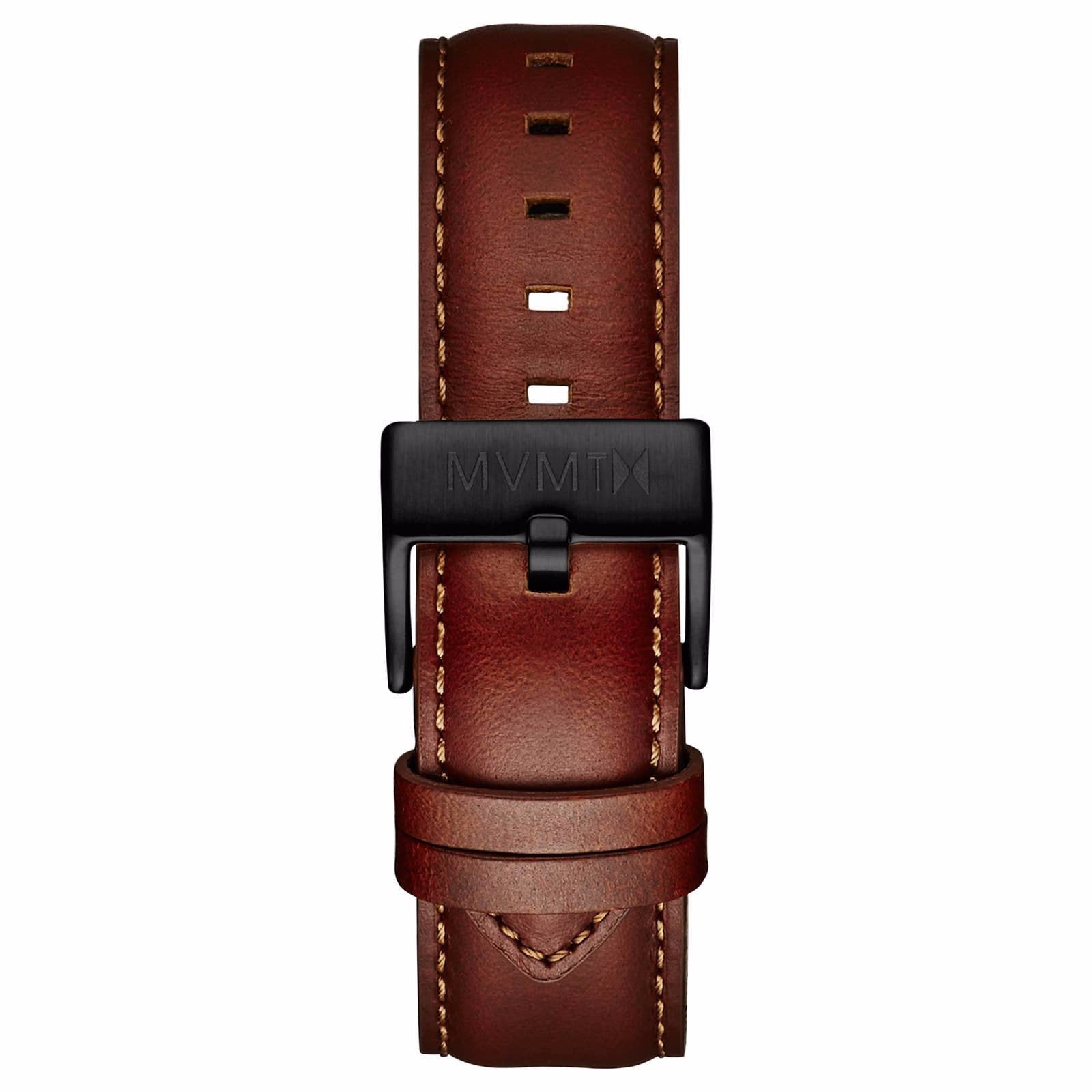 40 Series - 20mm Natural Leather - black
