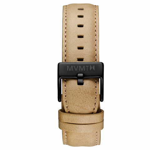 40 Series - 20mm Sandstone Leather black