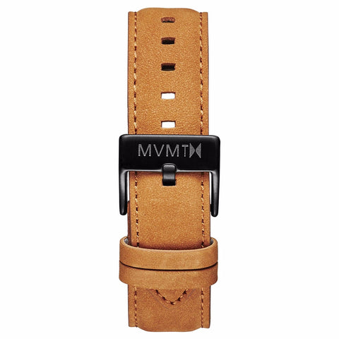40 Series - 20mm Tan Leather black