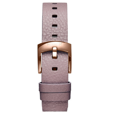 Bloom - 16mm Purple Leather rose gold
