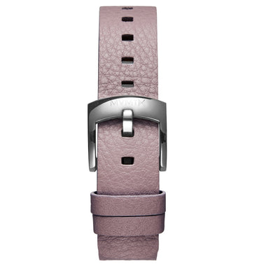 Bloom - 16mm Purple Leather silver