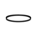 Ellipse Bangle Thin Matte Black