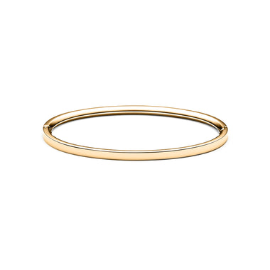Ellipse Bangle Thin Gold