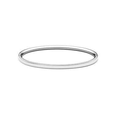 Ellipse Bangle Thin Silver