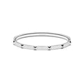 Stud Bangle Thin Silver