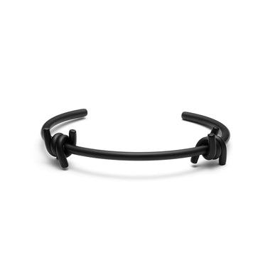 Double Barbed Cuff Matte Black