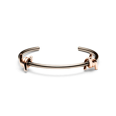 Double Barbed Cuff Taupe/Rose Gold