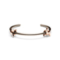 Double Barbed Cuff Taupe + Rose Gold