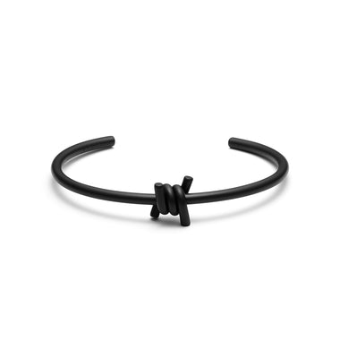 Single Barbed Cuff Matte Black