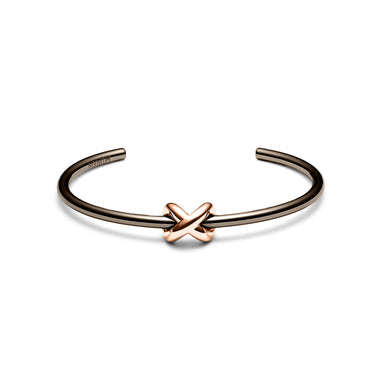 Knot Cuff Taupe/Rose Gold