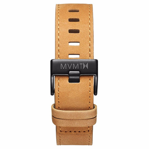 Chrono - 22mm Tan Leather black