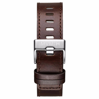 Chrono - 20mm Brown Leather silver