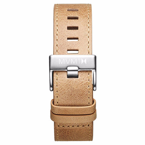 Chrono - 22mm Caramel Leather silver
