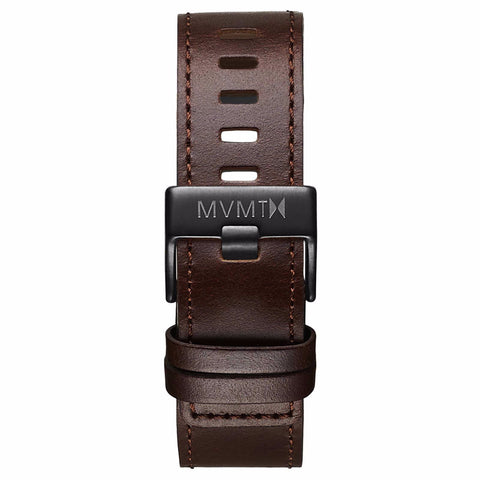 Chrono - 22mm Brown Leather black