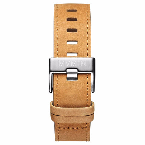 Chrono - 22mm Tan Leather silver