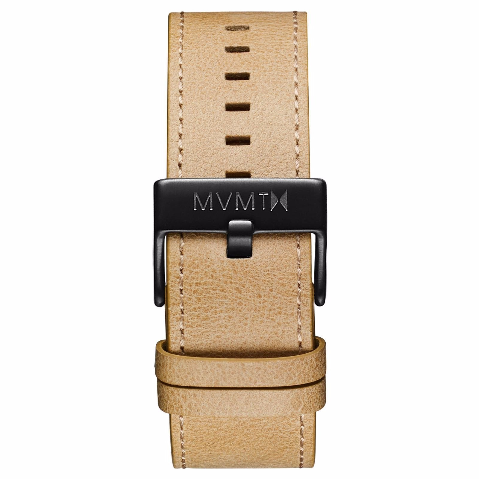 Classic - 24mm Sandstone Leather - black