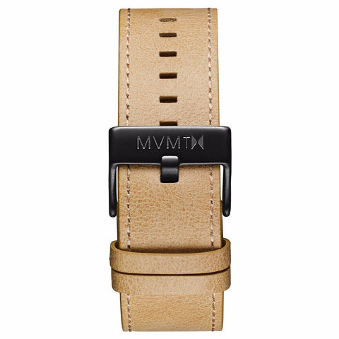 Classic - 24mm Sandstone Leather black