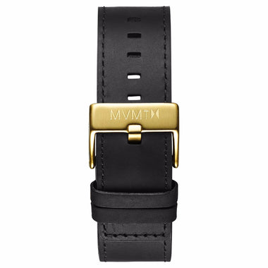 Classic - 24mm Black Leather gold