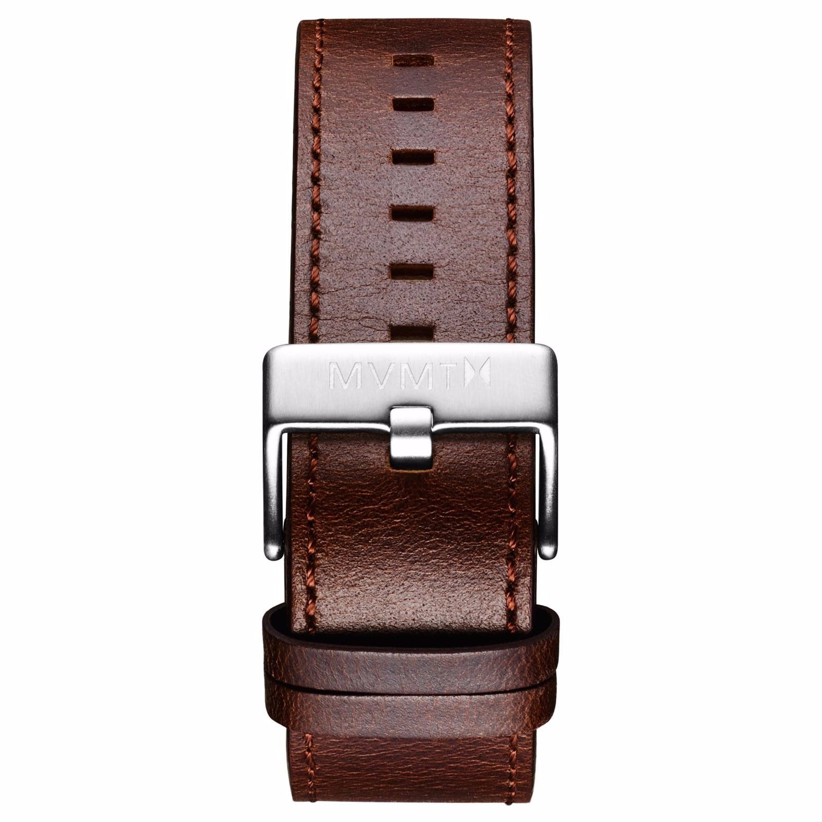 Classic - 24mm Brown Leather - silver