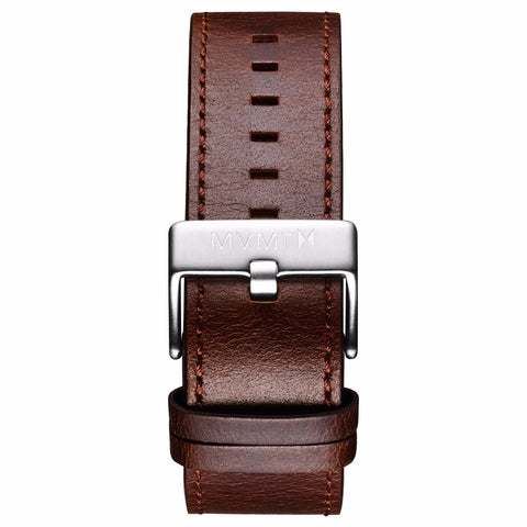 Classic - 24mm Brown Leather silver