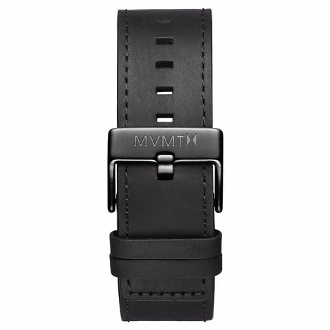 Classic - 24mm Black Leather gunmetal