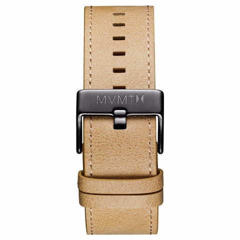 Classic - 24mm Sandstone Leather gunmetal