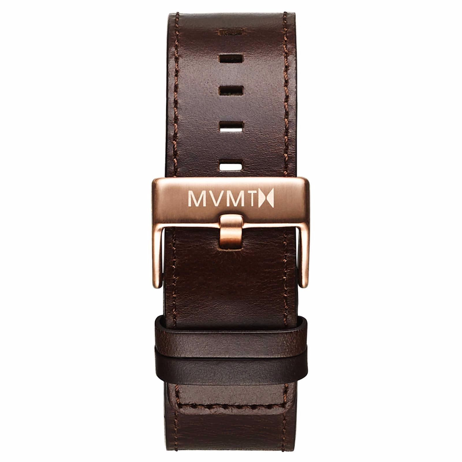 Classic - 24mm Brown Leather - rose gold