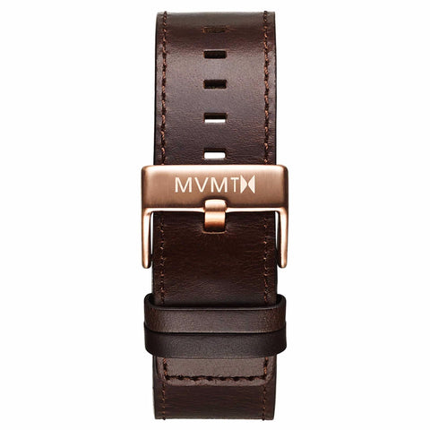Classic - 24mm Brown Leather rose gold