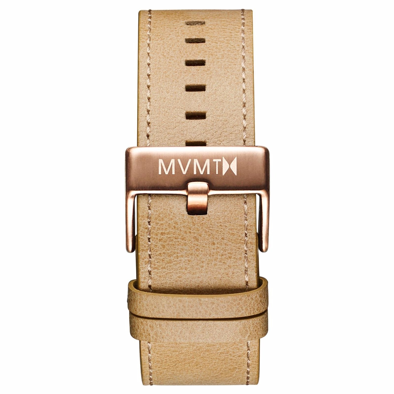 Classic - 24mm Sandstone Leather - rose gold