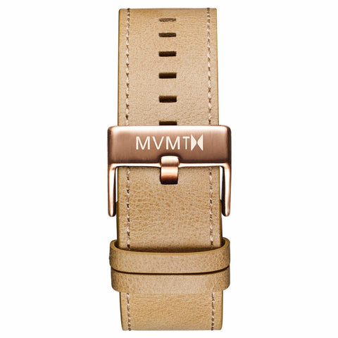 Classic - 24mm Sandstone Leather rose gold