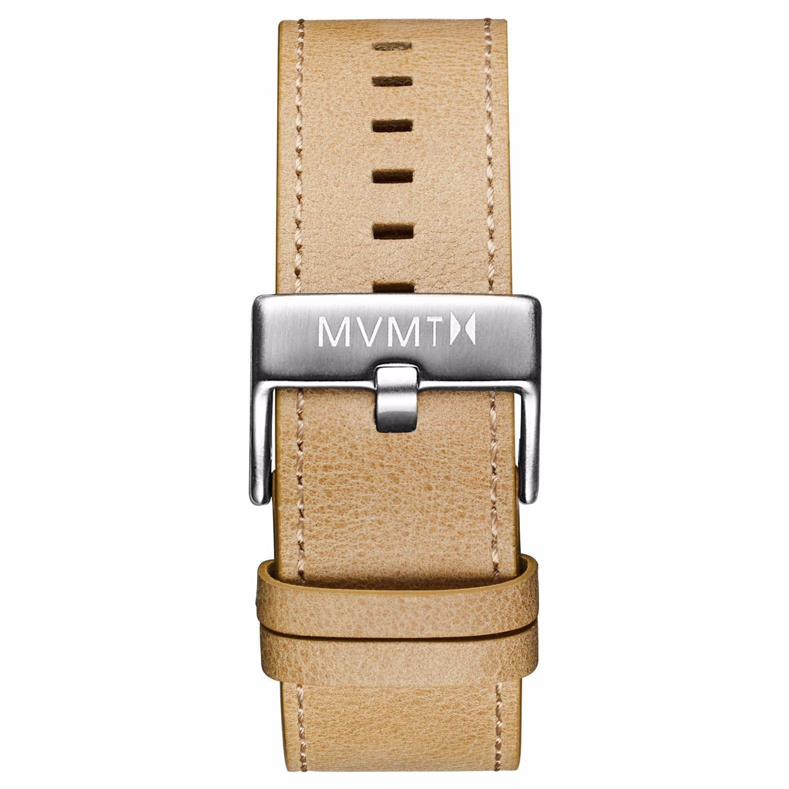 Classic - 24mm Sandstone Leather - silver