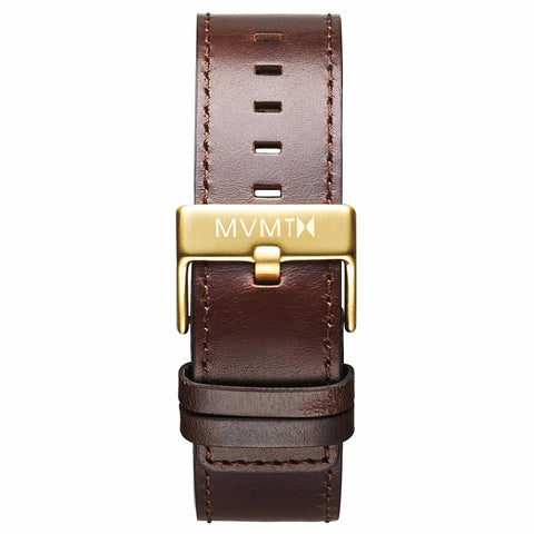Classic - 24mm Brown Leather gold