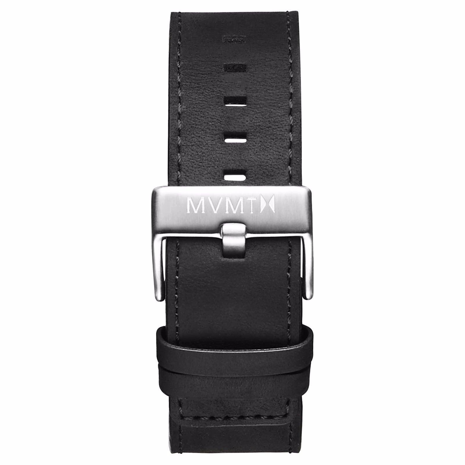 Classic - 24mm Black Leather - silver