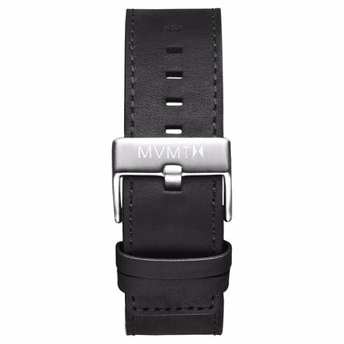Classic - 24mm Black Leather silver