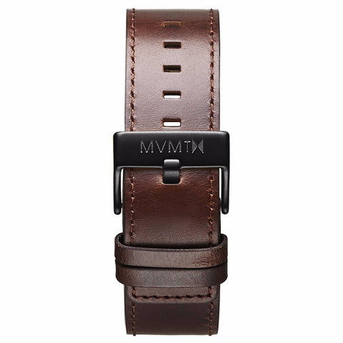 Classic - 24mm Brown Leather black