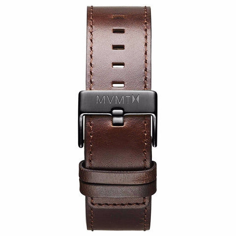 Classic - 24mm Brown Leather gunmetal