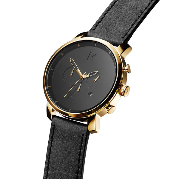 Chrono Gold/Black Leather